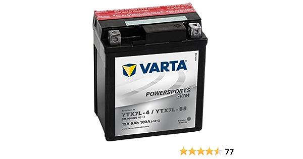 58009 Varta 506014005a514 Powersports Agm Motorradbatterie 12 V 6ah Ytx7l Bs Auto