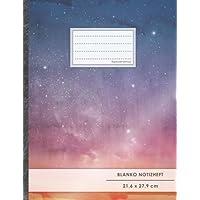 """Blanko Notizbuch • A4-Format, 100+ Seiten, Soft Cover, Register, """"Sternhimmel"""" • Original #GoodMemos Blank Notebook • Perfekt als Zeichenbuch, Skizzenbuch, Sketchbook, Leeres Malbuch"""