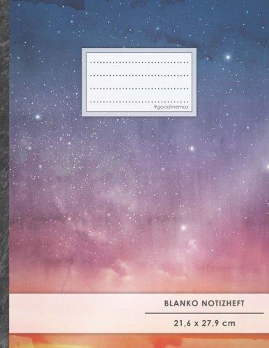 """Blanko Notizbuch • A4-Format, 100+ Seiten, Soft Cover, Register, \""""Sternhimmel\"""" • Original #GoodMemos Blank Notebook • Perfekt als Zeichenbuch, Skizzenbuch, Sketchbook, Leeres Malbuch"""