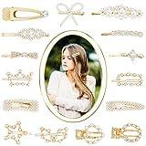 HBselect 16 stk Haarspangen Perlen gold Haarklammern Haarnadeln Haarschmuck für Damen Mädchen