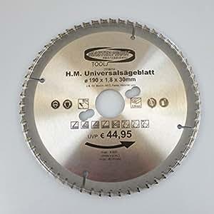 Universal Sägeblatt 190x30x1,8mm 60 Zähne Kreissägeblatt hochwertig