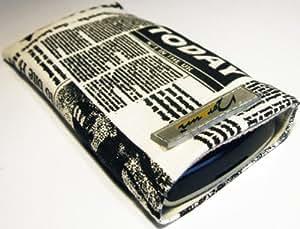 Norrun Handytasche / Handyhülle # Modell Nevelong # ersetzt die Handy-Tasche von Hersteller / Modell Samsung i8910 Omnia HD 8GB # maßgeschneidert # mit einseitig eingenähtem Strahlenschutz gegen Elektro-Smog # Mikrofasereinlage # Made in Germany