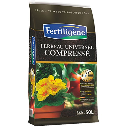 Fertiligene - Terreau universel compressé / Sac 17 l