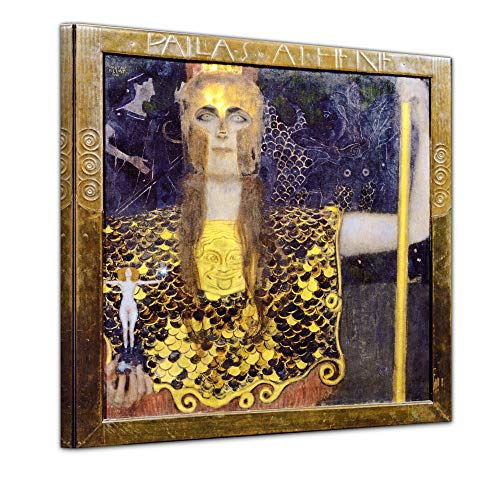 t Pallas Athene - 40x40cm Quadrat - Wandbild Alte Meister Kunstdruck Bild auf Leinwand Berühmte Gemälde ()