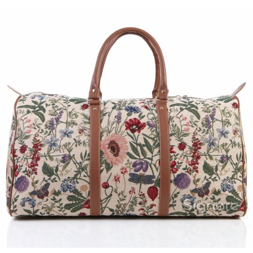 Signare grand fourre-tout bagage weekender en toile tapisserie mode femme Jardin de matin