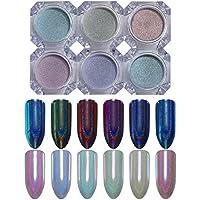 Purpurina para decoración de uñas Born Pretty, polvo holográfico de pigmento de cromo iridiscente, para manicura de espejo con efecto camaleón, unicornio o sirena