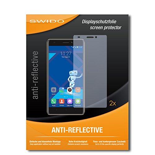 SWIDO Schutzfolie für Haier Phone L53 [2 Stück] Anti-Reflex MATT Entspiegelnd, Hoher Härtegrad, Schutz vor Kratzer/Bildschirmschutz, Bildschirmschutzfolie, Panzerglas-Folie