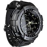 Mamum- MK28 Resistenza all'Acqua Smart Sport Orologio Contapassi per la Gestione della Salute Blueteeth 4.0, LOKMAT Sport Smart Watch 5ATM Impermeabile Blueteeth(Nero)