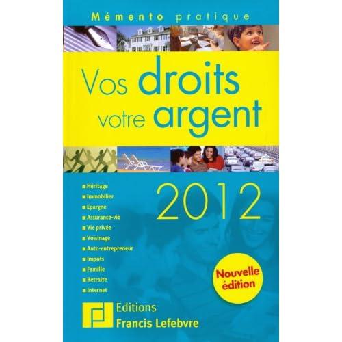 Memento Vos droits, votre argent 2012
