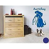 Wandtattoo Hunde-Ausrüstung ( Größe: 40cm x 59cm - Farbe: königsblau ) Motiv-Nr: 4349