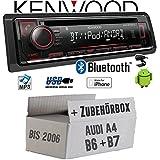 Audi A4 B6 B7 - Autoradio Radio Kenwood KDC-BT520U - Bluetooth CD/MP3/USB - Einbauzubehör - EINBAUSET
