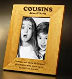 Cousins Gift Personalised Oak Photo Frame - 5 - Best Reviews Guide
