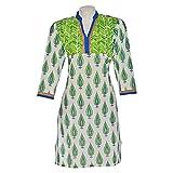 Kraft Corridor Women Cotton Green Print ...