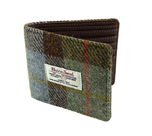 Harris Tweeds Gents Card Wallet LB2007 (Green Tartan COL15)