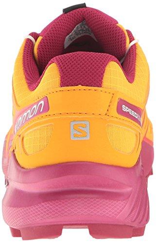 Salomon Speedcross 4 W, Scarpe da Trail Running Donna Bright Marigold/Sangria/Rose Violet
