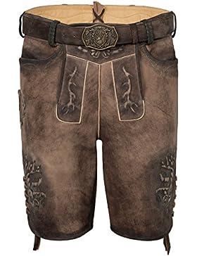 Michaelax-Fashion-Trade Spieth & Wensky - Herren Trachten Lederhose mit Gürtel, Galdo (300055-0413)