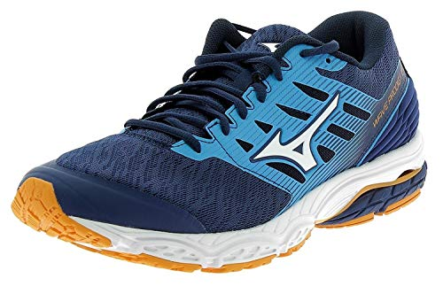 Mizuno Scarpe Running Uomo - Wave Prodigy 2 - J1GC1810-07 - ESTATE BLUE/WHITE/FLAME ORANGE-45