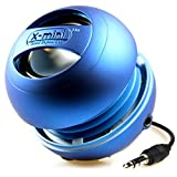 X-Mini II 2nd Generation Capsule Speaker with 3.5mm Jack Compatible with iPhone/iPad/iPod/Smartphones/Tablets/MP3 Player/Laptop - Blue
