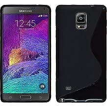 PhoneNatic 30004128 - Funda de silicona para Samsung Galaxy Note 4 - S-Style, color negro