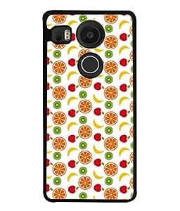 FIOBS fruits healthy diet natural oranges red fruits bananas Designer Back Case Cover for GOOGLE Nexus5X
