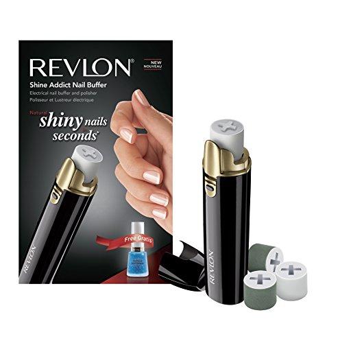 REVLON Shine Addict Set Manucure Pédicure Buffer/Polisseur d'Ongles Electrique