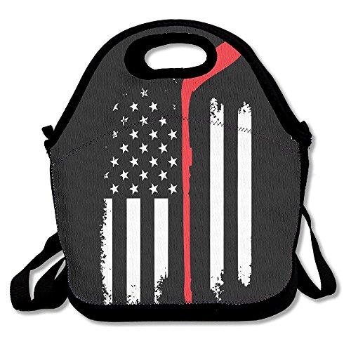 Tesu bolsas Estados Unidos bandera palo de Hockey al aire libre/viajes/Picnic bolsa para el almuerzo
