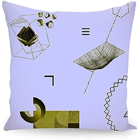"""Cuscino 50x50 cm Geometria illustrazione pastello """"Oggetti 07"""" hellblau - Cuscino - stampato fronte e retro - Cuscini """"Geometria illustrazione pastello"""" di """"Andreas Jarner"""""""