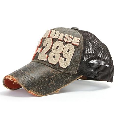 ililily Distressed Vintage Mesh Baseball Cap Snapback Trucker Hut (ballcap-440-2)