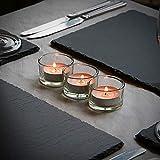 Set von 12 Kreis Teelicht Kerzenhalter | Ideal für Hochzeiten, Inneneinrichtungen, Partys, Tischdekoration und Geschenke Luxus Klarglas | Modernes Design | M&W - 5