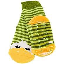 Weri Spezials Baby und Kinder Voll-ABS Socke Enten Motiv in Gruen