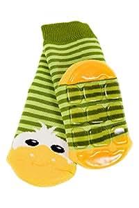 """Weri Spezials Spugna Calzini ABS per Bambini con suola Antiscivolo, Colore: Verde, Taglia: 31-34 (7-8 anni), """"Anatroccolo"""""""