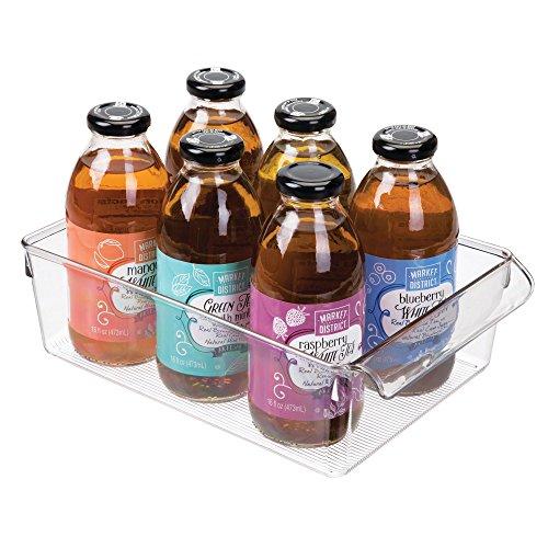 iDesign Aufbewahrungsbox mit Griff, große Vorratsdose ohne Deckel aus Kunststoff, Küchenorganizer für Vorratsschrank, Kühlschrank und Schublade, durchsichtig