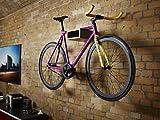 Fahrrad Wandhalter Hikee, Fahrradregal, Wandhalterung in elegantem Design, Holz, grau