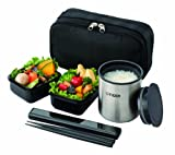 TIGER thermos lunch box black LWY-R024-K (japan import) by Tiger