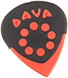 Dava Jazz Grip Red Delrin Guitar Plectrums Hand Bag of 6 (9024)