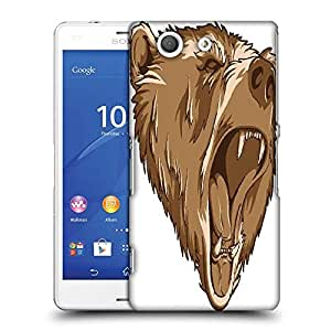 Snoogg vector grizzly bear Designer Protective Back Case Cover For Sony Xperia Z3 Compact
