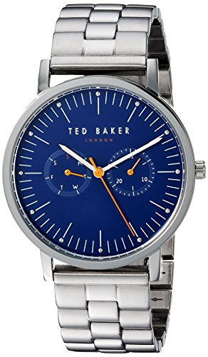 Ted Baker Men's 'BRIT' Quartz Stainless Steel Casual Watch, Color:Silver-Toned (Model: TE50274007)