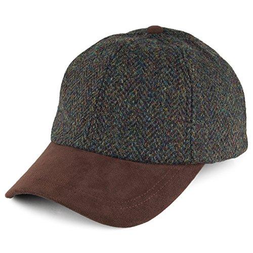 Failsworth Harris Tweed Cap - Grün Mischung - Einstellbar