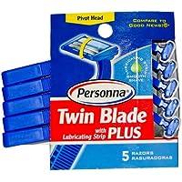 Personna - lama doppia Plus rasoi usa e getta con lubrificante Strip - un file di 5 - Lama Lubrificante