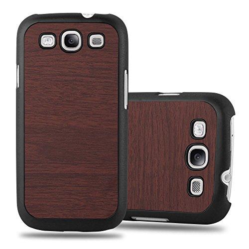 Preisvergleich Produktbild Cadorabo Hülle für Samsung Galaxy S3 / S3 NEO - Hülle in Woody Kaffee – Hardcase Handyhülle in Vintage Holz Optik - Schutzhülle Bumper Back Case Cover