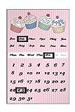 Premier Housewares Cupcake Magnetkalender Pink