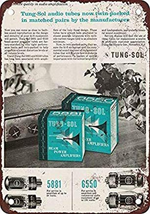 EstherMi19 1958 Tung-sol Matched Tubes Funny Vintage Metal Sign Home Decor Wall Art Tin Sign for Kids Room Man Cave Garage Decor Gift Idea 20,3 x 30,5 cm