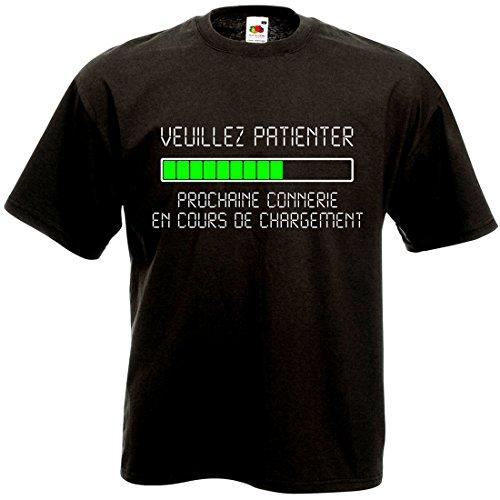 T-Shirt Veuillez Patienter Prochaine connerie en...