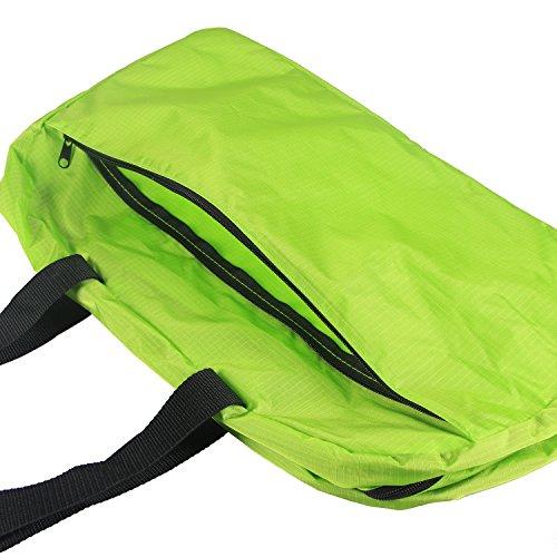 Teamoy Duffle Tasche, Sporttasche für PE Kits, Schwimmen Gear, Sport-Stuff, Reise Essentials und vieles mehr - leicht, faltbar in sich selbst, große Kapazitäten & Wasser beständig, perfekt über Nacht  Grün