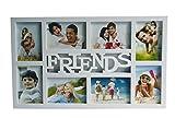 Fotorahmen FRIENDS weiß mit Glas für 8 Fotos 53 x 32 cm Bilderrahmen Rahmen Collage