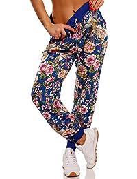 2bcaf192fe Young-Fashion Damen Sommerhose Strandhose Freizeithose Blumenmuster  Schlupfhose