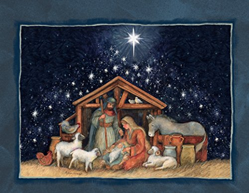 Lang Nativity Assorted Two Set Christmas Cardby Susan Winget, 5.375 x 6.875, 2 Unique Designs per Box, 18 Cards and 19 Envelopes (1008105) by Lang