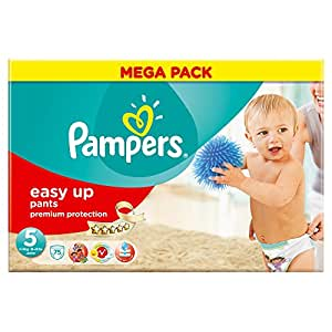 Ancienne version - Pampers - Easy Up Couches Culottes - Taille 5 Junior - 12-18 kg - Megapack x 75 Couches