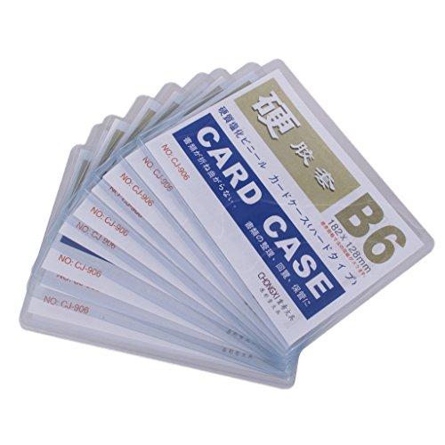 10pcs B6 Durchsichtigem Hartplastik Abzeichen Halter Karte ID Schutzhülse Beutel