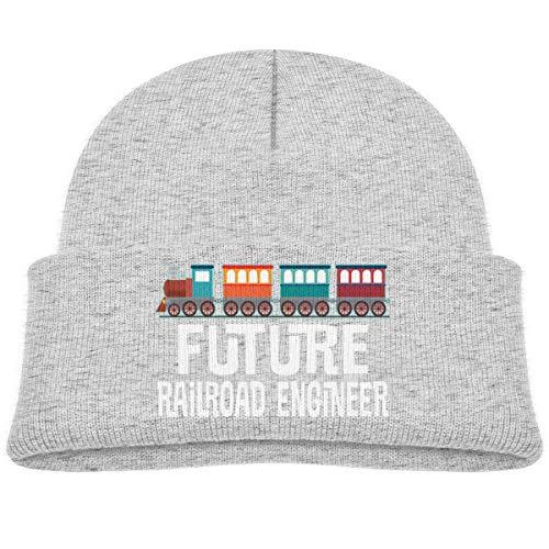 LLALUA Future Railroad Engineer Beanie Cap Knit Hat Infant - Infant Knit Beanie Orange